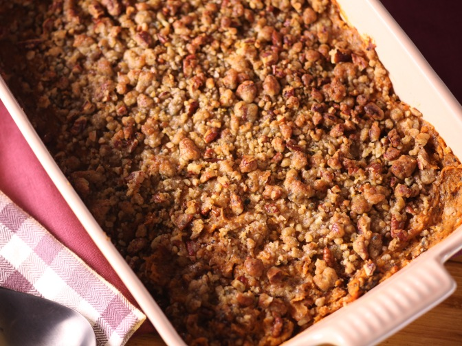 Ellie's Sweet Potato Pecan Casserole