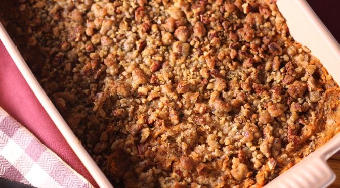 Ellie's Sweet Potato Pecan Casserole