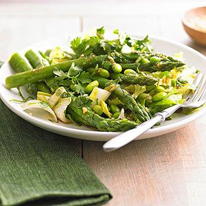 Gluten Free Asparagus, Edamame, and Parsley Salad