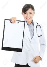 11844825-Woman-doctor-showing-blank-clipboard-sign-a-medical-concept-isolated-on-white-background-Stock-Photo